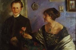 Lovis Corinth, Porträt des Dichters Georg Hirschfeld und seiner Gattin Elli (Ausschnitt), 1903; Slg. Doering